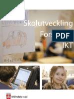 Folder Framtidens lärande Utveckling Forskning och IKT i Mölndals Stad