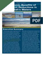 Economic Benefits of Nutrient Reduction in Utah Waters
