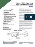 Accelerometer - ADXL362