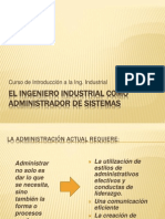 El Ingeniero Industrial Como Administrador de Sistemas - Clase 3