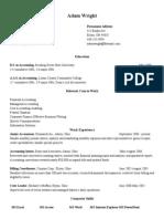 Sample Resume - Accounting Recent Graduate