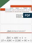 Minimización Lógica y Reglas de extracción para identificar sitios funcionales en secuencias moleculares