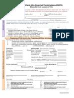 ONNSFA FInancial Need Analysis Form