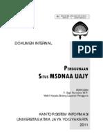 Panduan Penggunaan Situss MSDNAA UAJY