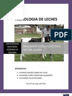 Tecnologia de Leches. Reglamentacion y Leyes en El Sector Lacteo(Listo) 2