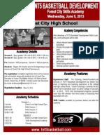 TNT5 Skills Academy Flier Forest City 2013