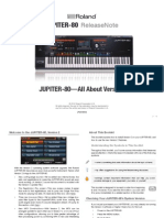 JUPITER-80 Version 2 ReleaseNote