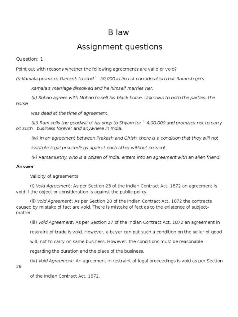agreement in restraint of legal proceedings
