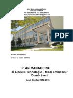 Plan Managerial 2012-2013 BUN