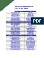 Equipo Nacional Master. Portugal 2013