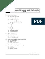 3. Aldehydes, Ketones and Carboxylic Acid