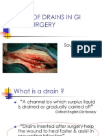 Role of Drains in Gi Tract Surgery