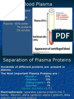 Physiology of  Plasma Proteins