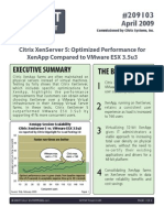 Tolly Group - XenServer vs VMware Apr 2009