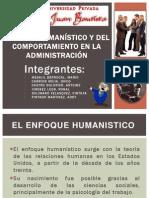 DIAPO FINAL Enfoque Humanístico y del Comportamiento en la Administración version 2003