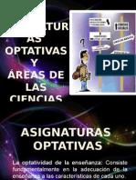 Asignaturas Optativas y Areas de Las Ciencias