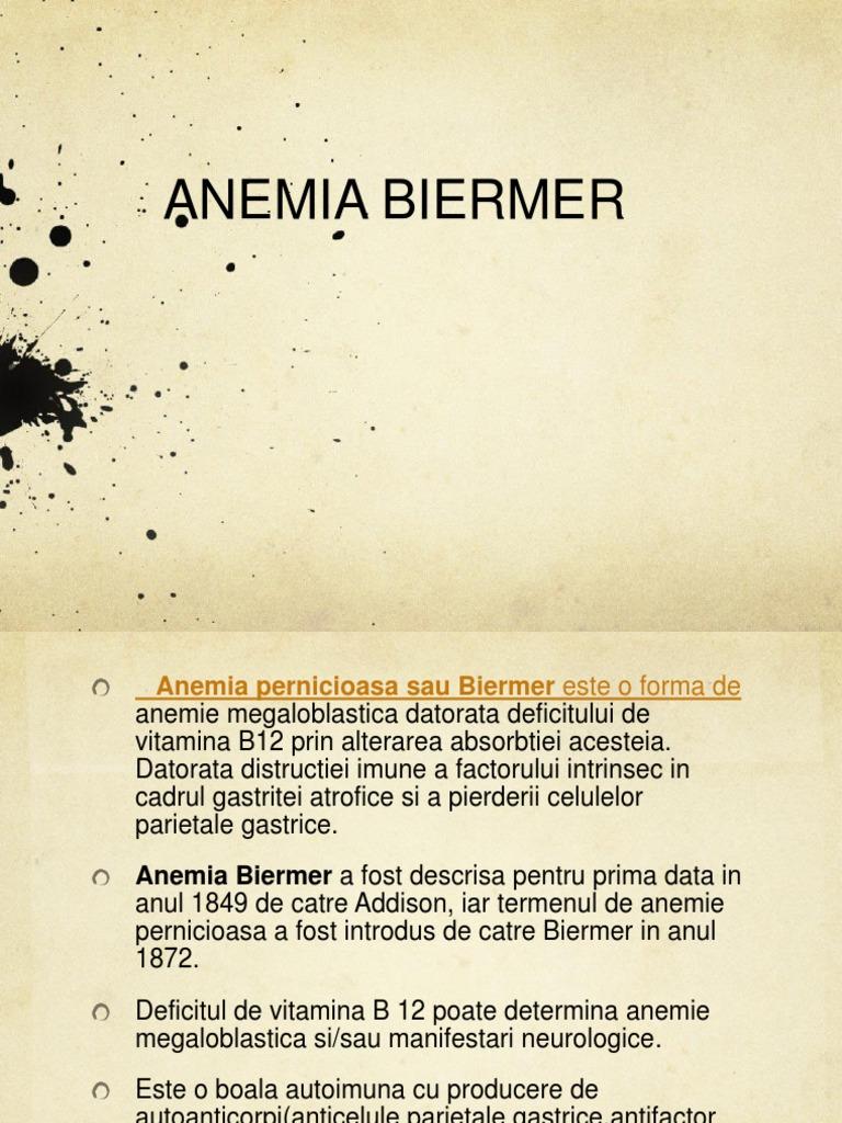 pierderea pernicioasă a anemiei