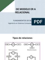 Paso de Modelo E-r a Relacional