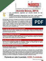 Comunicado Plan de Accion Social 2013