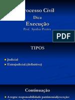 Aula  de  Execução  Processo Civil- Synthia Pontes