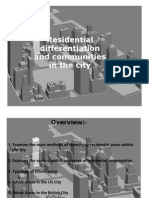 Residential differentiation and communities in the city