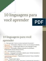 10 linguagens para você aprender