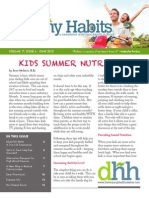 June 2013 - Developing Healthy Habits