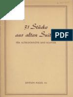 31 Stücke aus Alten Suiten - flute and piano