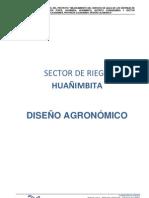 DISEÑO AGRONOMICO,HIDRAULICO Y PARAMETROS DE OPERACIÓN-HUAÑIMBITA