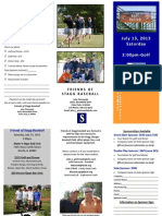 2013 Stagg Baseball Fundraiser Golf Outing