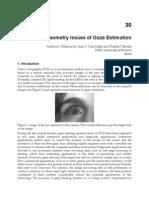 InTech-Geometry Issues of Gaze Estimation