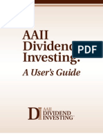 AAII Dividend Investing - User Guide