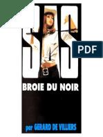 SAS Broie Du Noir - Gerard de Villiers