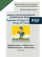 Reglamento Del Seguro General de Riesgos Del Trabajo