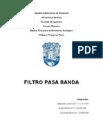 Filtro Pasa Banda Informe