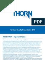 TGA 2013 Results Presentation