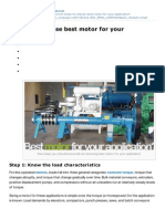 5 Steps to Choose Best Motor for Your Application