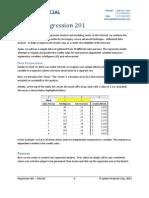 Regression Tutorial 201 With NumXL