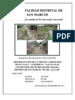 Perfil San Marcos Trocha Carrozable - Final