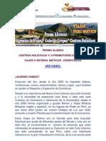 Promo Alianza Viaje Peru Centros Holisticos y Guias Grupos