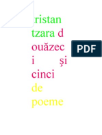 tristan tzara - douăzeci şi cinci de poeme