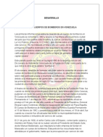 Historia de Los Cuerpos de Bomberos en Venezuela Para Imprimir