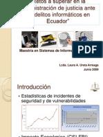 Presentacion de Tesis - Delitos Informaticos en Ecuador y Administracion de Justicia