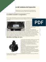Componentes del sistema de Inyección Electrónica