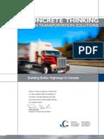 Advantages of concrete pavementes - Transportation Solutions Cement Association of Canada