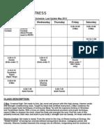 z Energy Class Schedule