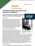 Comaroff, J. y J. Deberían aprender de países como Argentina y Sudáfrica