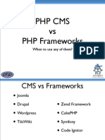 PHP Meetup Feb 09 - PHP CMS vs Frameworks