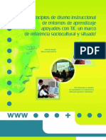 Principios de diseño instruccional de entornos de aprendizaje apoyados con TIC