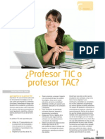 Profesor TIC o Profesor TAC